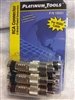 Platinum Tools RCA connector 6 Pack Male compression Black Banded RG6