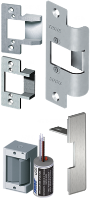 Trine, ​323478LC, 4850, electric strike, surface mounted, panic device, crash bar, electronic strike, pullman latch, axion, 4800 series.