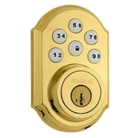KWIKSET, 99100-004, SMARTCODE, Z WAVE, DB, POLISHED BRASS,