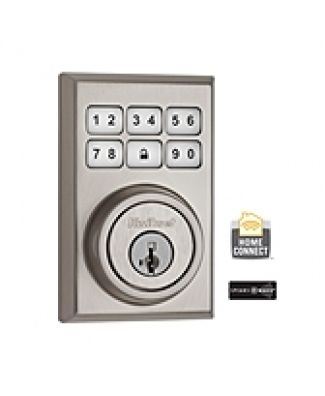 99100-011-Satin-Nickel, SMARTCODE, Z WAVE, DB, Satin Nickel,