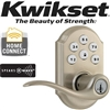 Kwikset 99120-005 SmartCode Z Wave Lever Style Deadbolt Satin Nickel, Traditional Leverset,