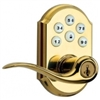 Kwikset, 99120-026, SmartCode, Traditional, Z-Wave, Leverset, Home Connect, Polished Brass,