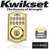 Kwikset, 99140-001, SmartCode, 914, Series, ZWave, Deadbolt, Polished Brass