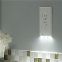 01-SR-101, SnapPowe,r Duplex, Guidelight, OUTLET, COVER PLATE, NIGHTLIGHT, Easy-to-install, sleek, and energy-efficient. Kitchen,