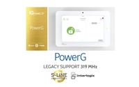 Qolsys IQ Panel 2 Plus PowerG (AT&T LTE, 319.5 MHz, Interlogix Compatible) (QS9202-1208-840)