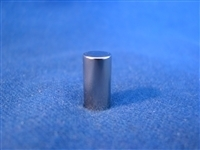"3/8"" x 1/2"" Rare Earth Magnet, Nickel Plated"