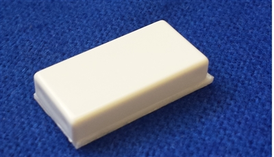 "Quick Switch QSRES7 White Tile Magnet 1"" Long x 1/2"" Wide x 1/4"" Thick"