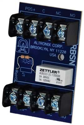 Altronix RBSN Relay Module (12/24VDC, DPDT Contacts @ 1A - 120VAC or 2A - 28VDC)