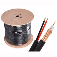 1000ft RG59 18/2 Siamese Cable Spool, Copper Conductor