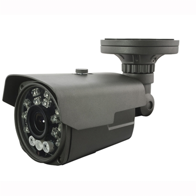 1080P HD-CVI Vari-Focal Lens 5-50mm Bullet Camera (Grey) 300FT Night Vision