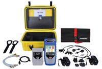 Net Chaser, Deluxe Test Kit, TNC950DX, technician, installer,  Ethernet Speed Certifier & Network TesterMain Unit, Net Chaser Active Remote Protective Hard Case, Power Supply, 4 GB SD Card, Micro USB Cable, FTP Patch Cable, CAT5e, RJ45, Port Saver, Cable