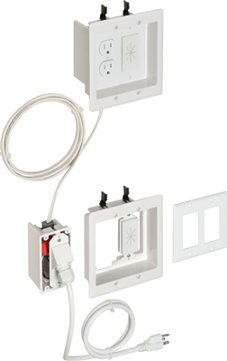 Recessed Two-Gang Power/Low-Voltage TV Bridge II Kit