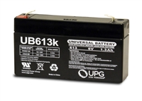 UPG UB613 Battery - Sealed Lead Acid - 6 Volt - 1.3Ah