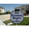 Solar LED Sign Light: Security Alarm Yard Sign