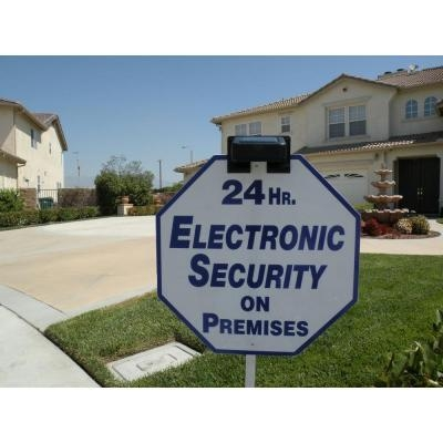 Solar LED Sign Light - Security Alarm Yard Sign