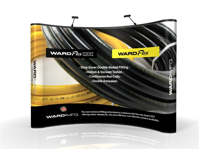 WARDFlex and WARDFlex MAX Pop-Up Tradeshow Booth ---- 10' x 10'