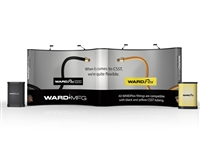 WARDFlex and WARDFlex MAX Pop-Up Tradeshow Booth ---- 10' x 20'