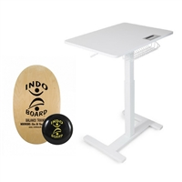 FitDesk Sit-to-Stand Adjustable Desk & Indo Board Balance Bundle
