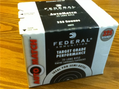 22 LR Federal 40gr AutoMatch - 325 rounds