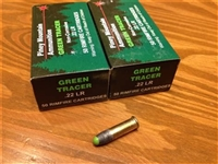 22 LR Tracer Piney Mountain Green - 50 rounds