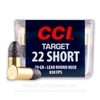 22 Short CCI 29gr LRN - 300 rounds