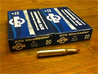 270 Winchester 130gr SP ammunition - 40 rounds