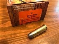 38-40 Winchester (38 WCF) HSM 180gr RNFP Cowboy - 50 rounds