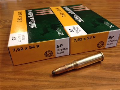 7.62x54r Sellier & Bellot 180gr SP - #40