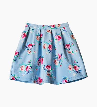 FLOWERS ON FLOWERS SKIRT