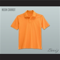 Men's Solid Color Neon Carrot Polo Shirt