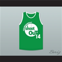 14 Green Tournament Shoot Out Basketball Jersey Above The Rim