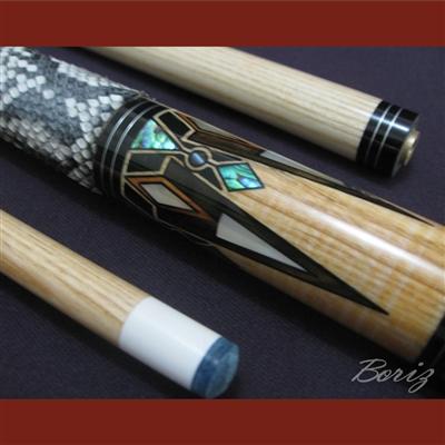 Boriz Billiards Snake Skin Grip Pool Cue Stick Original