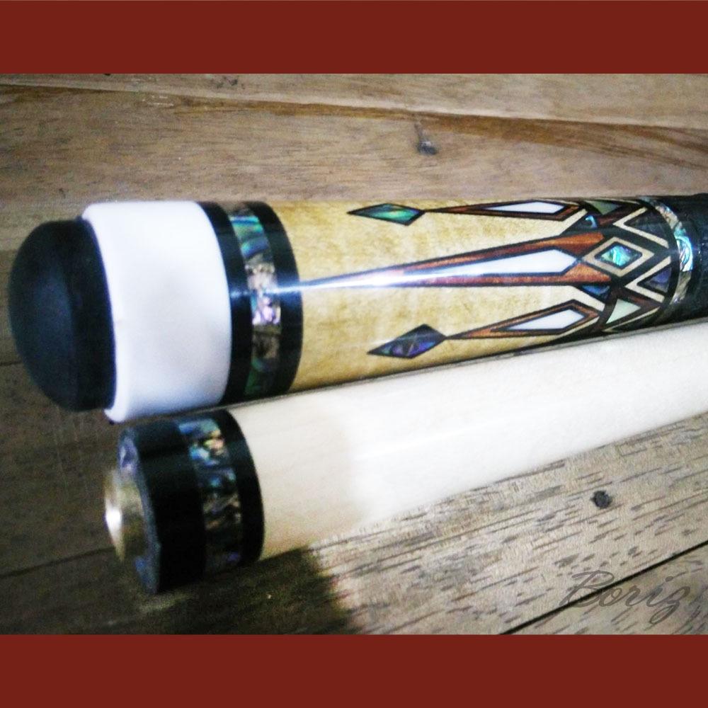 Boriz Billiards Black Leather Grip Pool Cue Stick Majestic