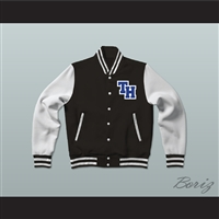 Nathan Scott One Tree Hill Ravens Black Varsity Letterman Jacket-Style Sweatshirt