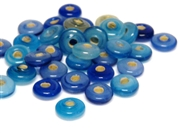 10gm swirl rondelles 8mm blue mix