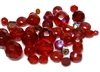 10gm Assorted Czech Fire polish Bead mix red ab