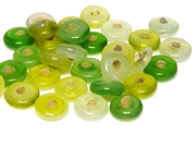 10gm swirl rondelles 8mm green mix