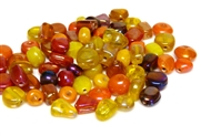 10gm luster beadmix assortment red & yellow