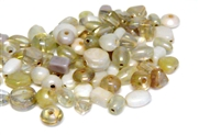 10gm luster beadmix assortment white & clear