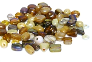 10gm luster beadmix assortment brown