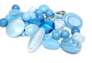 20gm czech glass beadmix mixed ocean blue