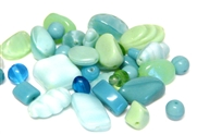 20gm czech glass beadmix mixed seafoam ocean