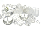 20gm czech glass beadmix mixed frosty white