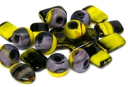 20gm czech glass beadmix mixed yellow purple