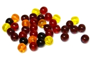 25pc czech glass round beadmix fire mix 6mm