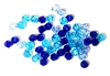 20pc crystal bicones Blue Mix 4mm