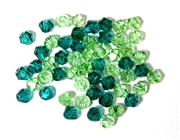 20pc crystal bicones green Mix 4mm