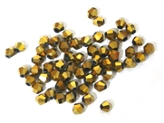 20pc crystal bicones Gold 4mm