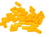 10gm czech glass large bugle beads light orange mix