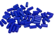 10gm czech glass large bugle beads cobalt blue mix